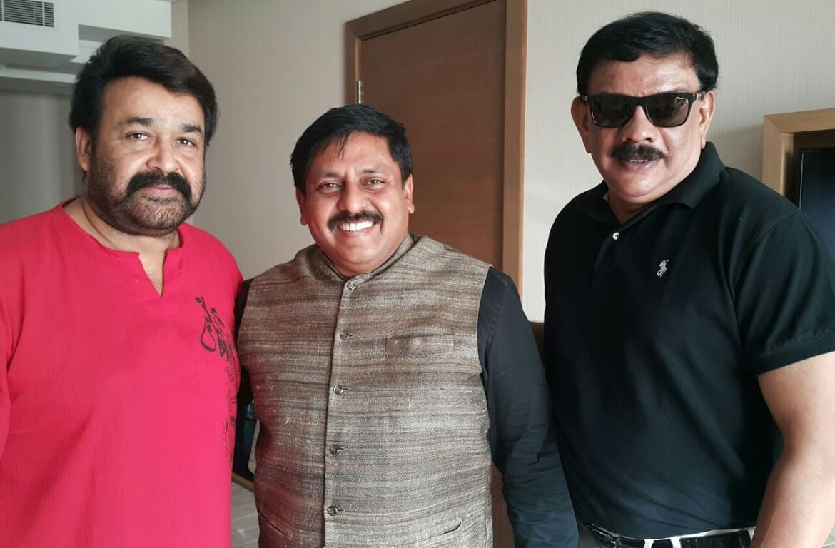 Mr. Sohan Roy with Mohanlal and Priyadarshan