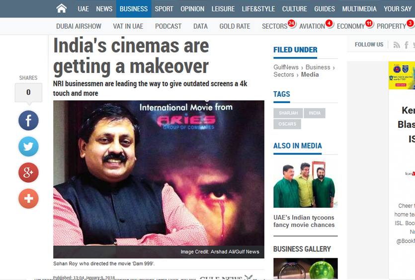 Indian Cinemas are getting a makeover, an article in Gulf news